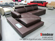 New Modern 2-piece Leather Sectional Sofa Set S1006 Custom Options Available