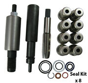6.0l Powerstroke Fuel Injector Sleeve Puller + Installer Set W/ Cups And O-rings