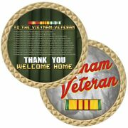 Vietnam Veteran Ribbon Thank You Welcome Home Military 1.75 Challenge Coin