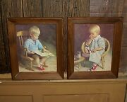 Children At Play Framed Art Prints 2 Very Nice And Collectible
