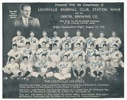 1941 Louisville Colonels Team Signed Vintage Baseball Photo 21 Signatures