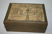 Vintage George Luttrell Ii New Orleans Reproduction Print Wooden Trinket Box