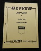 1960 Oliver Super 166 Power Unit Stationary Engines Parts Catalog Manual Minty