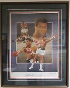 Framed Muhammad Ali Autographed Lithograph Limited Edition Christopher Paluso 1