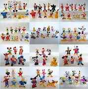 Complete Collectible Figures Set Disney Mickey Donald Miniatures Toys
