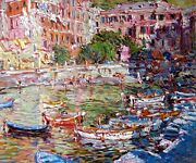 Marco Sassone Vernazza Fine Art Limited Edition Color Serigraph 1990 Submitoffer