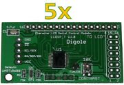 5x Serialuart/i2c/spi Adapters For 1602/1604/2002/2004/4002 Lcd In Arduino/pic