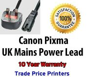 New Uk Power Lead Cable For Canon Pixma Mp Printer Series Select Model In Advert