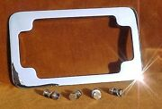 Deluxe Motorcycle License Plate Frame. Hidden Bolts Heavy Show Chrome. Primo