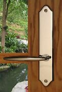 Fpl Luxor Entry Door Lever Set And Back Plates With Deadbolt