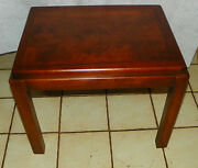 Mid Century Walnut End Table / Side Table By Lane Rp-t563