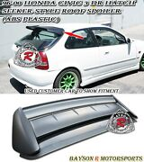 Sk-style Rear Roof Spoiler Wing Abs Plastic Fits 96-00 Honda Civic 3dr