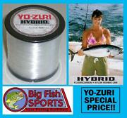 Yo-zuri Hybrid Fluorocarbon Fishing Line 600yd Clear Color New Pick Your Size
