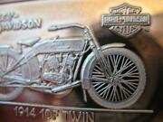 1.4-oz.999 Pure Silver 1914 10f Twin 75th Sturgis Anniv Harley Bar Ingot +gold