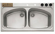 Franke Magnum Stainless Steel Double Basin Drop-in Kitchen Sink Kvnx-720c New