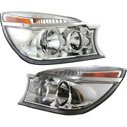 Headlight Set For 2004-2005 Buick Rendezvous Left And Right With Bulb 2pc
