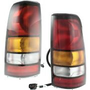 Set Of 2 Tail Light For 2004-2005 Gmc Sierra 1500 Lh And Rh W/ Bulbs
