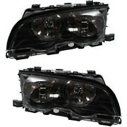 Headlight Headlamp Left And Right Pair Set New For Bmw 3 Series E46