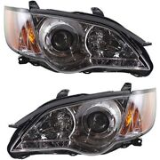 Headlights Headlamps Left And Right Pair Set For 08-09 Subaru Legacy