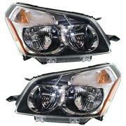 Headlight Set For 2009-2010 Pontiac Vibe Left And Right With Bulb 2pc