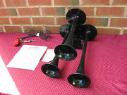 50s Vintage Toot-a-horn 3 Note Musical Horns 12v Street Rod Lead Sled Bomb