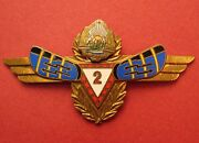 Romania Air Force Wings Radio Radar Specialist 2cl Signals Military Badge Rsr A+