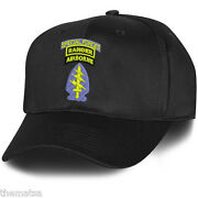 Army Airborne Special Forces Ranger Military Black  Embroidered Hat Cap