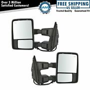 Mirror Power Fold Telescope Heat Memory Signal Light Textured Tow Pair For Ford