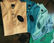 225 Men's Greg Norman Pro Series Play Dry Micro Pique Solid Polo Golf 5 Shirts