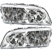 Headlight Set For 2003-2004 Volvo V70 Left And Right With Bulb 2pc