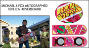 Michael J. Fox Autographed Signed Back To The Future Bttf Hoverboard Psa Coa