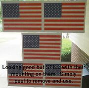 5-lot American Flag Vinyl Cling-on Window Sticker Decal Reusable 4x 6 Usa Made
