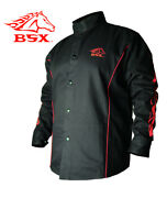 Stryker™ Fr Red And Black Flames Welding Jacket