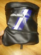 Nos Vintage The Bagman Leather Motorcycle Tank Bag Universal Fit