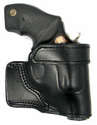 Right Hand Black Leather Yaqui Speed Draw Belt Holster For Sandw Airweight 38