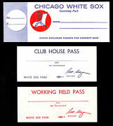 1968 Chicago White Sox Comiskey Park Working Field And Club House Pass + Envelope