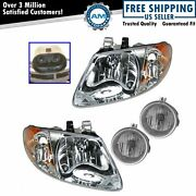 Headlight Fog Driving Light Lamp Kit Set Of 4 For Town And Country Grand Caravan