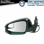 Side View Power Mirror With Spotter Glass Textured Lh For Toyota Rav4 Suv New