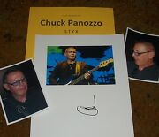 Chuck Panozzo Autographed Photo And Photos -styx- Very Collectible