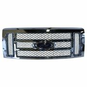 Oem Grille Chrome Mesh With Emblem For 09-14 Ford F150 Pickup Truck