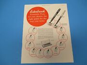 1949 Esterbrook Fountain Pens Let You Choose The Right Point, Print Ad Pa013
