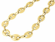 10k Yellow Gold 12mm Wide Puffed Mariner Link Chain Necklace 28-32 Inches