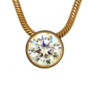 B.tiff 1 Carat Solitaire Cz Rose Gold Stainless Steel Pendant 18 Chai