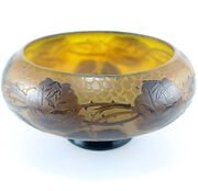 Antique Cameo Art Glass Footed Bowl Or Low Vase – Signed D 'argental