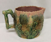 Antique Majolica Etruscan Shell And Seaweed Pitcher