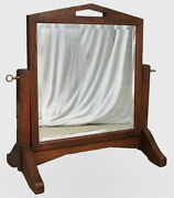 Antique Oak Mirror Dresser Or Vanity Style Made By Shop Of The Crafters Mission
