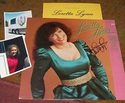 Loretta Lynn Autographed Mint Album And Photos Country Legend- Real Collectible