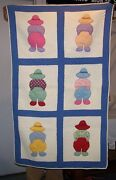 Antique Overall Sam Appliquandeacuted Boy Crib Baby Quilt