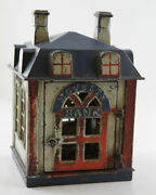 Antique Cast Iron Mechanical Novelty Toy Coin Bank