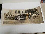 1920's Patterson Heights Pa Fire Department Panoramic Photo Men And Truck-23.5x10